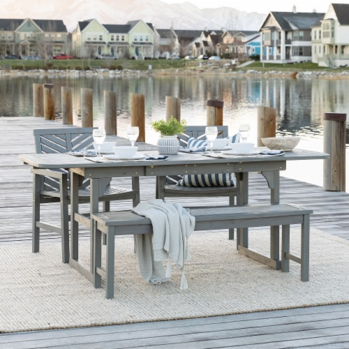 4 piece extendable outdoor patio dining