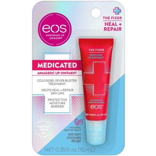 EOS Medicated Analgesic Lip Ointment Perspective: front
