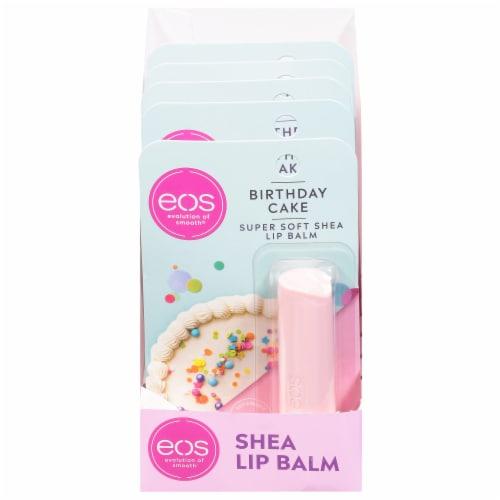 EOS Birthday Cake Lip Balm Stick Perspective: front