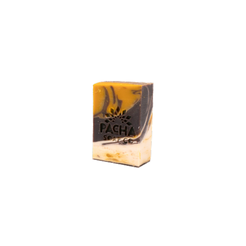 Pacha Soap Co. Almond Goat's Milk Bar Soap Perspective: front