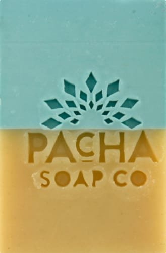 Pacha Soap Co. Sand & Sea Bar Soap Perspective: front