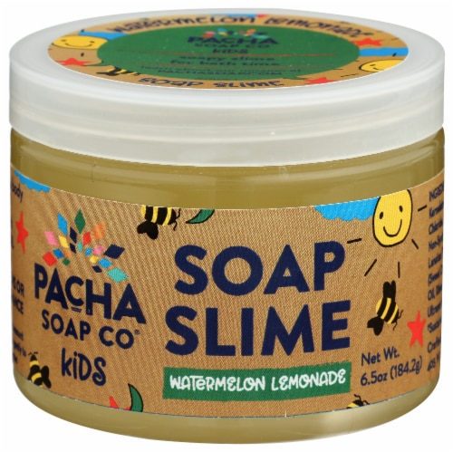 Pacha Soap Co Kids Watermelon Lemonade Soap Slime Perspective: front