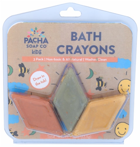 Pacha Soap Co Kids Warm Bath Crayons Perspective: front