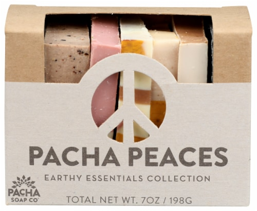 Pacha Soap Co Pacha Peaches Earth Essentials Collection Bar Soap Perspective: front