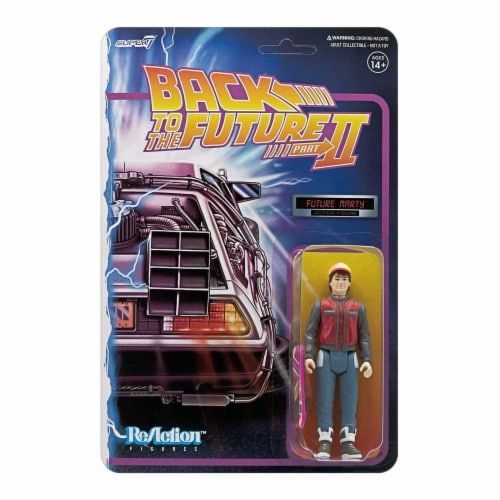 Super7 Back To The Future Part II Future Marty Reaction Figure Perspective: front