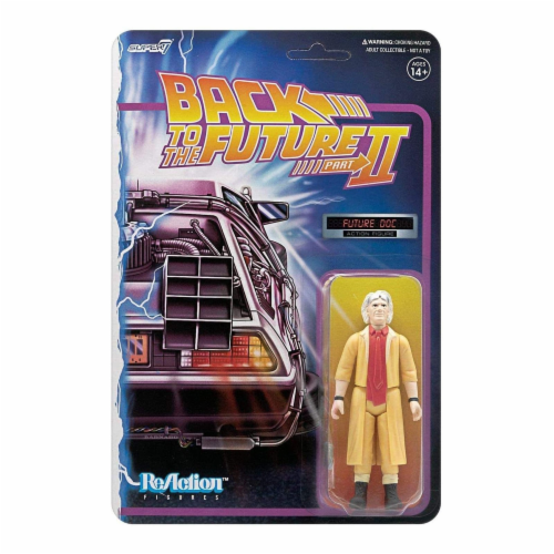 Super7 Back To The Future Part II Future Doc Reaction Figure Perspective: front