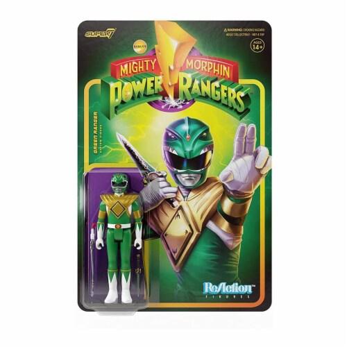 Super7 Power Rangers Green Ranger Reaction Figure Perspective: front