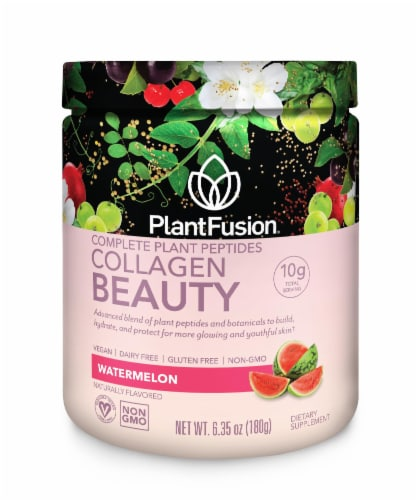 PlantFusion Watermelon Collagen Beauty Dietary Supplement Perspective: front
