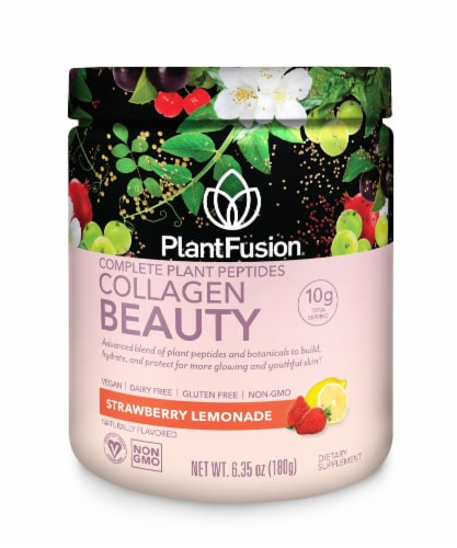 PlantFusion Strawberry Lemonade Complete Beauty Dietary Supplement Perspective: front