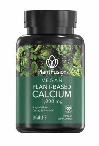 PlantFusion Vegan Plant-Based Calcium 1000mg Perspective: front