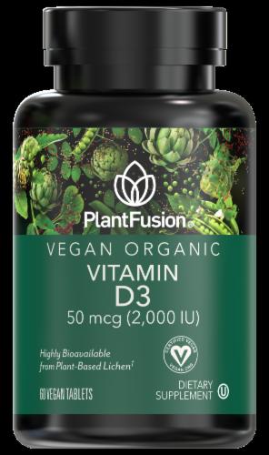 PlantFusion Vegan Organic Vitamin D3 Vegan Tablets 50mcg Perspective: front