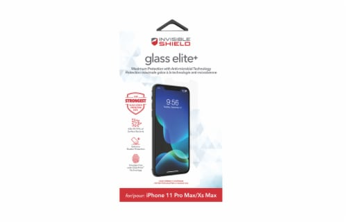 InvisibleShield Glass Elite Apple iPhone 11 Pro Max Screen Protector Perspective: front