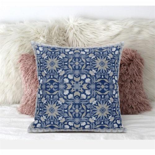 Amrita Sen Jahan Paisley 20 x20  Suede Pillow in Hot Pink Yellow Perspective: front