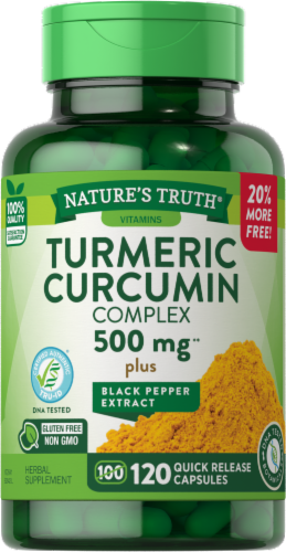Nature's Truth Tumeric Curcumin Complex Capsules 500mg Perspective: front