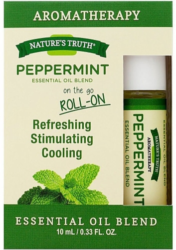 Nature's Truth  Peppermint Essential Oil Blend Roll-On Perspective: front