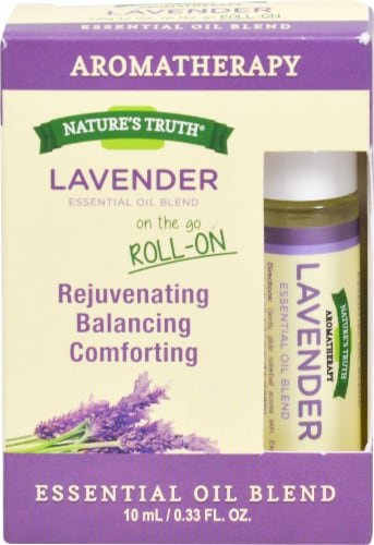 Nature's Truth  Roll On Essential Oil Blend Lavender Perspective: front