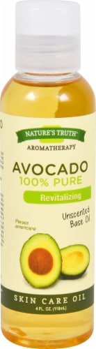 Nature's Truth 100% Pure Avocado Unscented Base Skin Care Oil Perspective: front