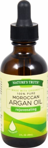 Nature's Truth Organic Unscented Moroccan Argan Oil Perspective: front