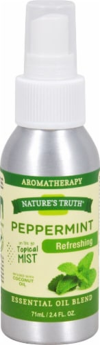Nature's Truth  Essential Oil Blend Spray Peppermint Perspective: front
