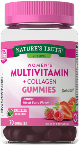 Nature's Truth Women's Multi-Vitamin + Collagen Gummies Perspective: front