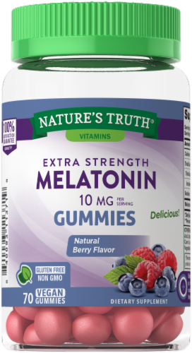 Nature's Truth Extra Strength Melatonin Gummies 10mg Perspective: front