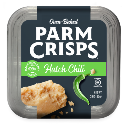 ParmCrisps Hatched Chili Oven Baked Parmesan Perspective: front