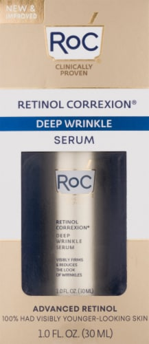 RoC Retinol Correxion Deep Wrinkle Facial Serum Perspective: front