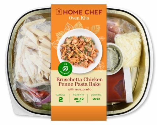 Home Chef Oven Kit Bruschetta Chicken Penne Pasta Bake Perspective: front