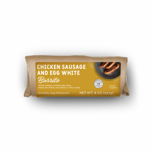 Home Chef Egg White & Chicken Sausage Burrito Perspective: front