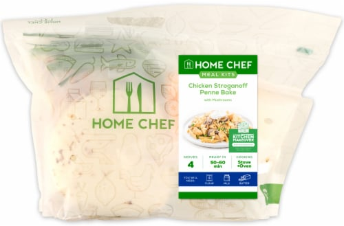 Home Chef Value Meal Kit Chicken Stroganoff Penne Bake With Mushrooms Perspective: front
