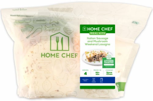 Home Chef Value Meal Kit Italian Sausage And Mushroom Weekend Lasagna Perspective: front