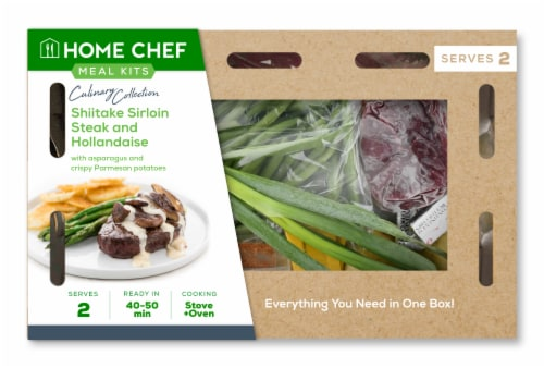 Home Chef Culinary Collection Shiitake Sirloin Steak And Hollandaise Perspective: front
