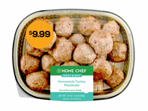 Home Chef Heat & Eat Homestyle Turkey Meatballs Perspective: front