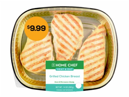 Home Chef Heat & Eat Grilled Chicken Breast Perspective: front