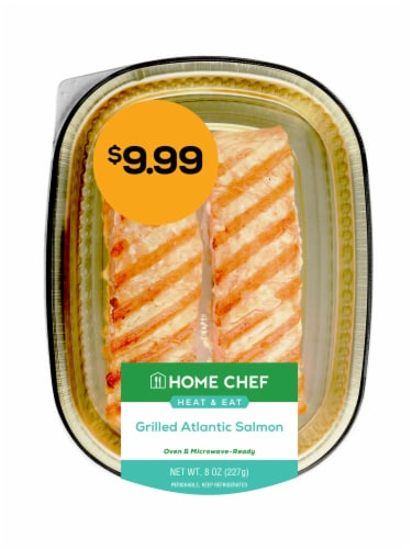 Home Chef Heat & Eat Grilled Atlantic Salmon Perspective: front