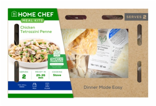 Home Chef Value Meal Kit Chicken Tetrazzini Penne Perspective: front