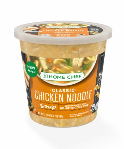 Home Chef Heat and Eat Classic Chicken Noodle Soup Perspective: front