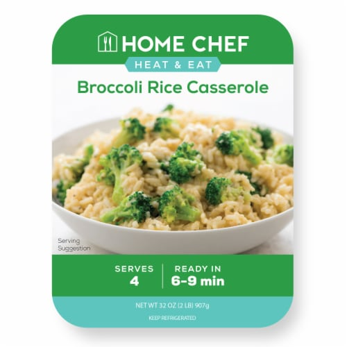 Home Chef Heat & Eat Broccoli Rice Casserole Perspective: front