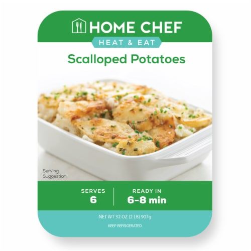 Home Chef Heat & Serve Scalloped Potatoes Perspective: front