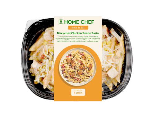 Home Chef Heat and Eat Blackened Chicken Penne Pasta Perspective: front