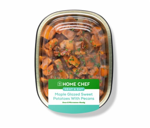 Home Chef Heat & Eat Maple Glazed Sweet Potatoes With Pecans Perspective: front
