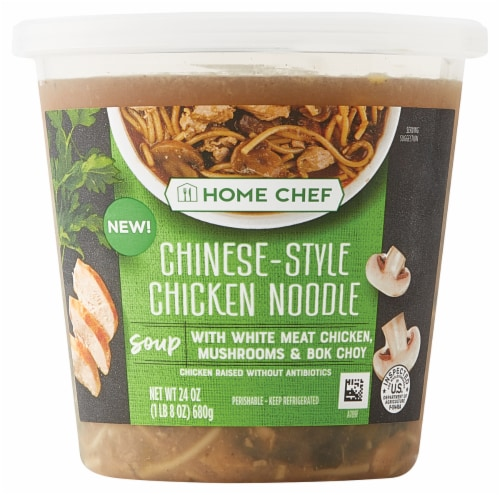 Home Chef Chinese-Style Chicken Noodle Soup Perspective: front