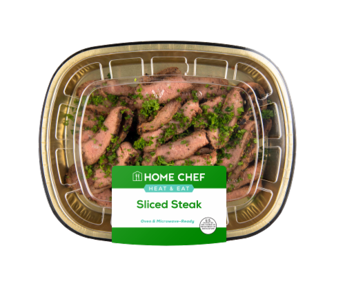 Home Chef Heat & Eat Sliced Steak Perspective: front