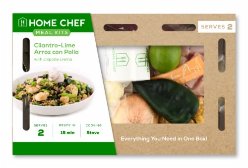 Home Chef Meal Kit Cilantro-Lime Arroz con Pollo with Chipotle Crema Perspective: front
