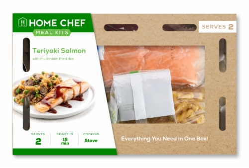 Home Chef Meal Kit Teriyaki Salmon with Mushroom Fried Rice Perspective: front