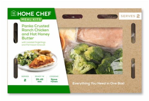 Home Chef Meal Kit Crispy Ranch Chicken and Hot Honey Butter Perspective: front