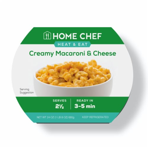 Home Chef Heat & Eat Creamy Macaroni & Cheese Perspective: front