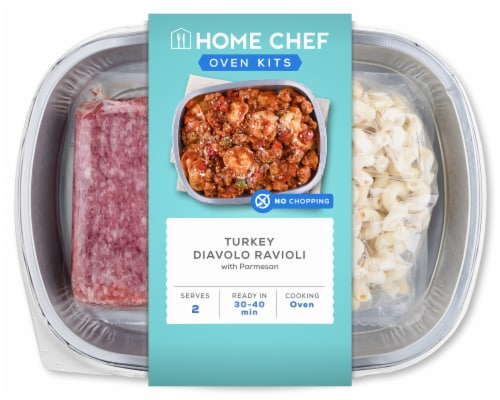 Home Chef Oven Kit Turkey Diavolo Ravioli Perspective: front