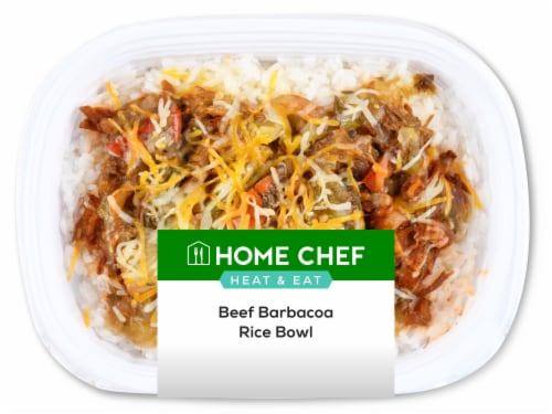 Home Chef Heat & Eat Beef Barbacoa Rice Bowl Perspective: front