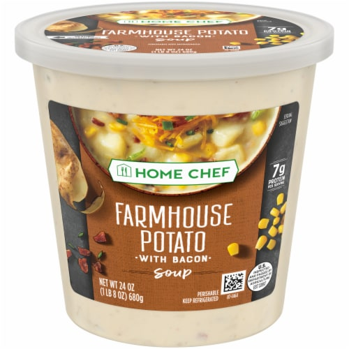Home Chef Farmhouse Potato with Bacon Soup Perspective: front